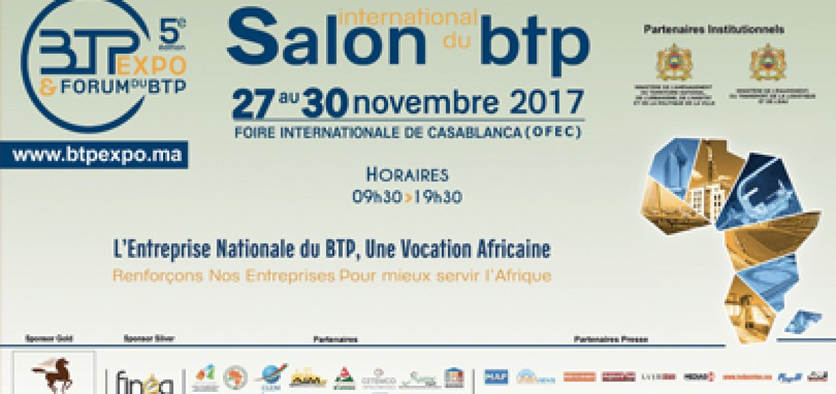 Salon btpexpo 2017 salon international du btp casablanca for Salon du reptile 2017
